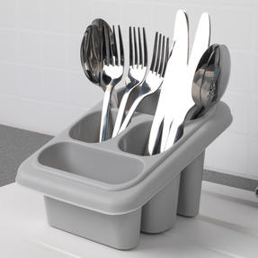 Beldray COMBO-4239 10L Washing Up Bowl, Storage Caddy and Cutlery Drainer, Grey Thumbnail 5