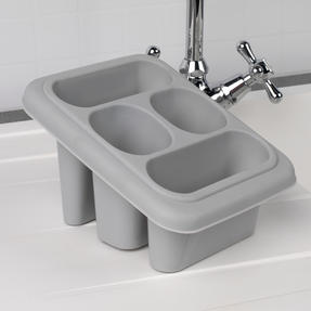 Beldray COMBO-4239 10L Washing Up Bowl, Storage Caddy and Cutlery Drainer, Grey Thumbnail 8
