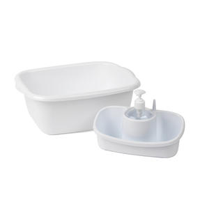 Beldray COMBO-4240 Caravan 10L Washing Up Bowl and Sink Storage Caddy with Soap Dispenser, White