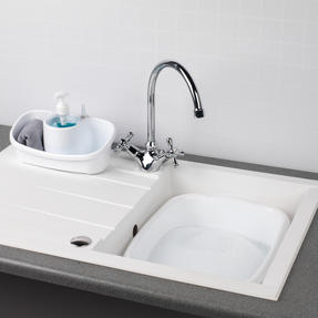 Beldray COMBO-4240 Caravan 10L Washing Up Bowl and Sink Storage Caddy with Soap Dispenser, White Thumbnail 2