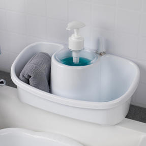Beldray COMBO-4240 Caravan 10L Washing Up Bowl and Sink Storage Caddy with Soap Dispenser, White Thumbnail 3