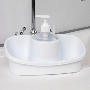 Beldray COMBO-4240 Caravan 10L Washing Up Bowl and Sink Storage Caddy with Soap Dispenser, White Thumbnail 6