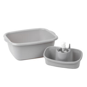 Beldray COMBO-4241 Caravan 10L Washing Up Bowl and Sink Storage Caddy with Soap Dispenser, Grey