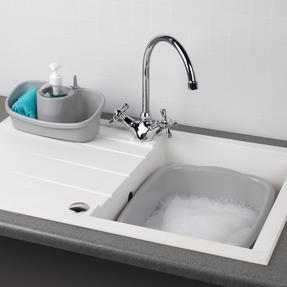Beldray COMBO-4241 Caravan 10L Washing Up Bowl and Sink Storage Caddy with Soap Dispenser, Grey Thumbnail 2