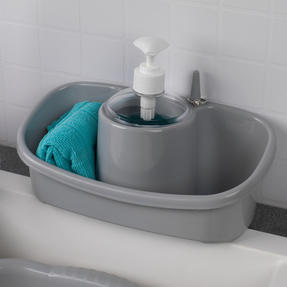 Beldray COMBO-4241 Caravan 10L Washing Up Bowl and Sink Storage Caddy with Soap Dispenser, Grey Thumbnail 4