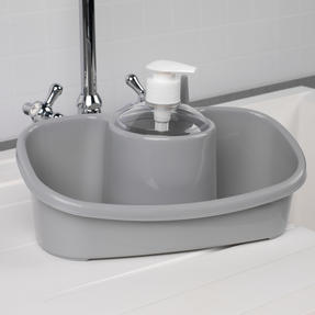 Beldray COMBO-4241 Caravan 10L Washing Up Bowl and Sink Storage Caddy with Soap Dispenser, Grey Thumbnail 6