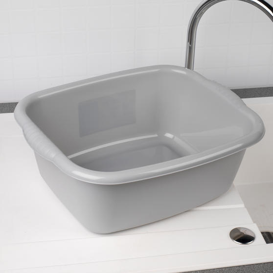 Beldray Rectangular Washing Up Bowl, 10 Litre, Grey, Set of 2 Thumbnail 2
