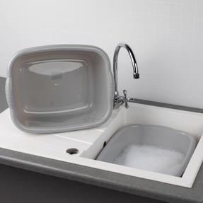 Beldray COMBO-4242 Rectangular Washing Up Bowl, 10 Litre, Grey, Set of 2 Thumbnail 3