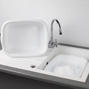 Beldray COMBO-4243 Rectangular Washing Up Bowl, 10 Litre, White, Set of 2 Thumbnail 2