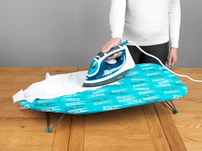 Beldray COMBO-4319 Caravan and Camping Accessories Table Top Ironing Board Collapsible Laundry Basket, Peg Print / Grey Thumbnail 4