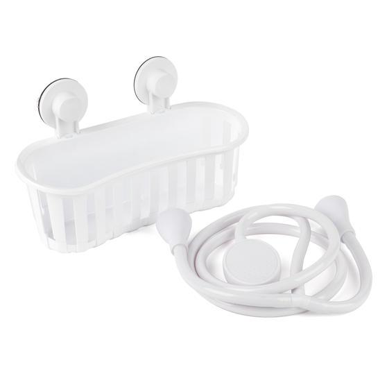 Beldray COMBO-4231 Push-On 150 cm Caravan and Pet Shower Mixer Set with Suction Bathroom Basket