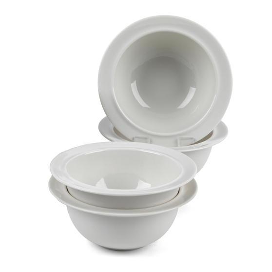 Alessi COMBO-3347 La Bella Tavola Porcelain Cereal, Soup, Dessert Bowls, 16 cm, Set of 12