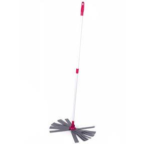 Kleeneze KL062536EU Cloth Mop With Extendable Telescopic Handle, White/Pink Thumbnail 3