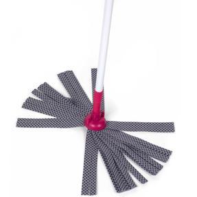 Kleeneze KL062536EU Cloth Mop With Extendable Telescopic Handle, White/Pink Thumbnail 4