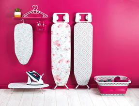 Kleeneze KL062291RBYEU Table Top Ironing Board With Cotton Cover, 73 x 31 cm, Ruby Thumbnail 6