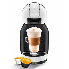 De?Longhi COMBO-4130 Nescafe Dolce Gusto Mini Me Coffee Machine with Icona Four-Slice Toaster, White / Onyx Black Thumbnail 4