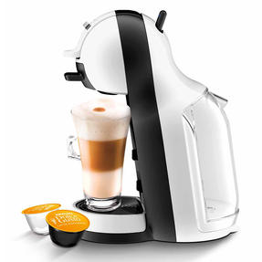 De?Longhi COMBO-4130 Nescafe Dolce Gusto Mini Me Coffee Machine with Icona Four-Slice Toaster, White / Onyx Black Thumbnail 8