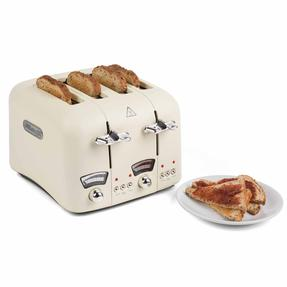 De?Longhi COMBO-4136 Icona Vintage Drip Coffee Machine with Argento Four Slice Toaster, Beige / Cream Thumbnail 3