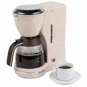 De?Longhi COMBO-4136 Icona Vintage Drip Coffee Machine with Argento Four Slice Toaster, Beige / Cream Thumbnail 4