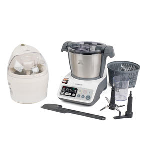 Kenwood COMBO-4131 kCook Food Processor and Electric Ice Cream Maker Kitchen Gadget Set, White / Grey Thumbnail 1