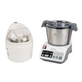 Kenwood COMBO-4131 kCook Food Processor and Electric Ice Cream Maker Kitchen Gadget Set, White / Grey Thumbnail 2
