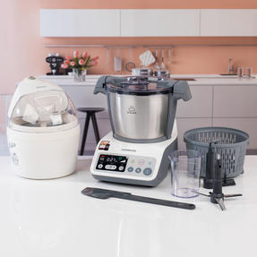 Kenwood COMBO-4131 kCook Food Processor and Electric Ice Cream Maker Kitchen Gadget Set, White / Grey Thumbnail 3