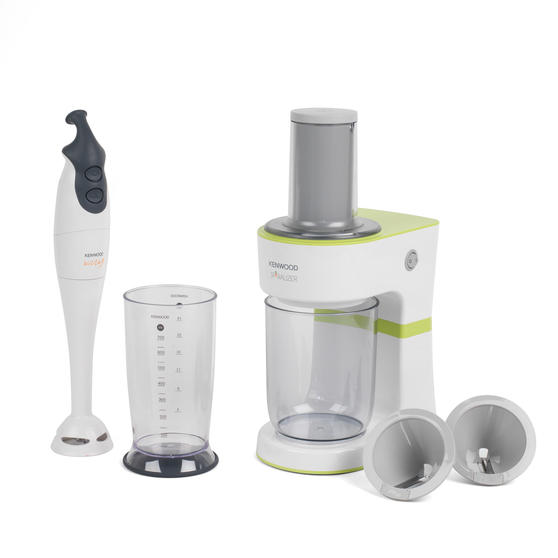 Kenwood COMBO-4133 Electric Dual-Speed Hand Immersion Blender with Fruit and Vegetable Spiralizer Kitchen Gadget Set