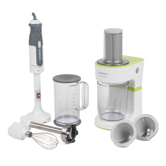 Kenwood COMBO-4134 Tri-Blade Hand Blender and Electric Fruit and Vegetable Spiralizer Kitchen Gadget Set