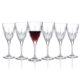 RCR 26230020006 Chic Luxion Crystal Red Wine Glasses, 360 ml ,Set of 6 Thumbnail 2