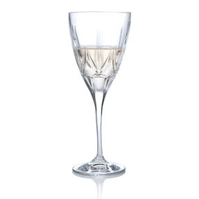 RCR 26231020006 Chic Luxion Crystal White Wine Glasses, 280 ml, Set of 6
