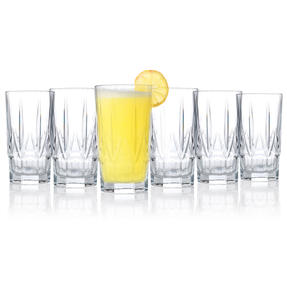 RCR 26233020006 Chic Luxion Crystal Hi-Ball Tumbler Glasses, 520 ml, Set of 6 Thumbnail 2