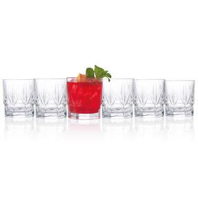 RCR 26234020006 Chic Luxion Crystal Short Tumbler Glasses, 430 ml, Set of 6 Thumbnail 2