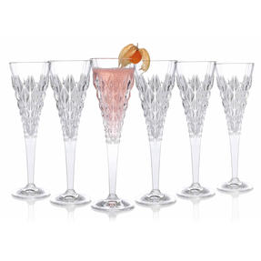 RCR 25755020006 Enigma Luxion Crystal Glass Champagne Flutes, 210 ml, Set of 6 Thumbnail 3