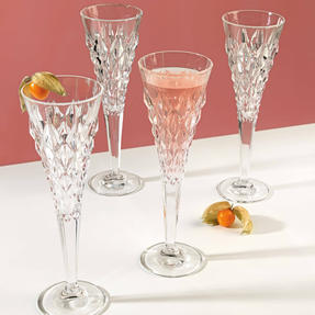RCR 25755020006 Enigma Luxion Crystal Glass Champagne Flutes, 210 ml, Set of 6 Thumbnail 4