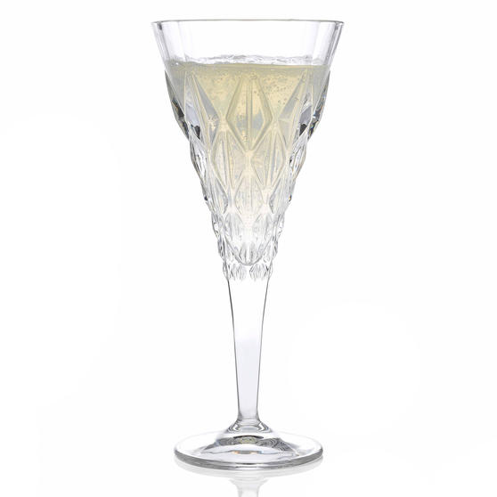 RCR 25759020006 Enigma Luxion Crystal White Wine Glasses, 270 ml, Set of 6