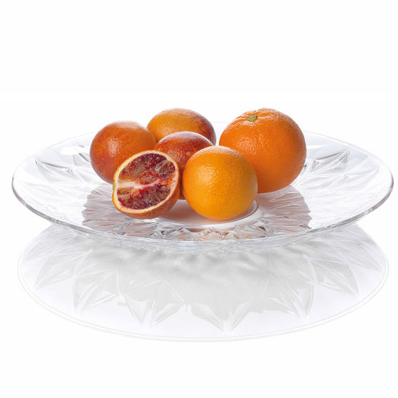RCR 26252020006 Enigma Luxion Crystal Decorative Centrepiece Bowl, 33 cm