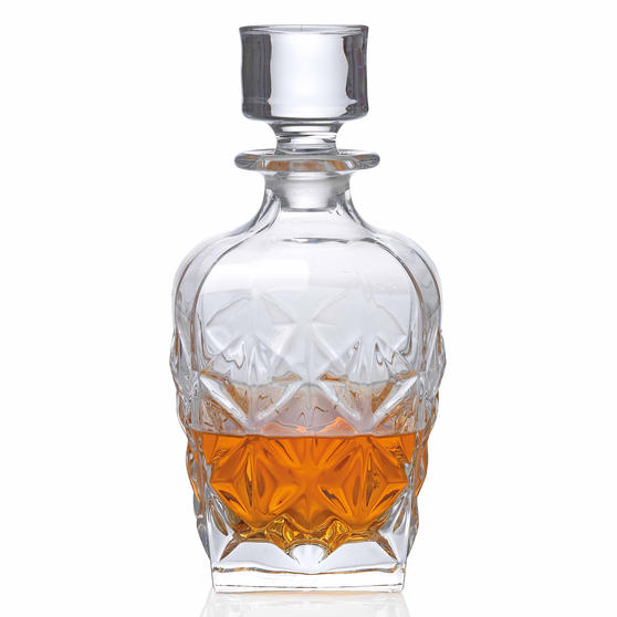 RCR 51529020006 Enigma Luxion Crystal Whisky Decanter, 860 ml