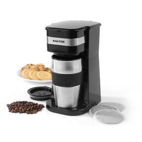 Salter COMBO-4461 Coffee Maker to Go Personal Filter Coffee Machine with Electric Grinder and Milk Frother Thumbnail 2