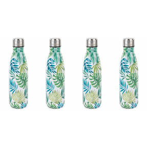 Cambridge COMBO-4153 Polynesia Thermal Insulated Flask Bottle, 500 ml, Stainless Steel, Set of 4