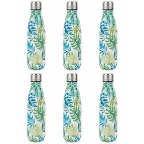 Cambridge COMBO-4158 Polynesia Thermal Insulated Flask Bottle, 500 ml, Stainless Steel, Set of 6