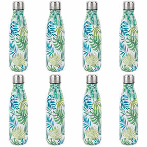Cambridge COMBO-4163 Polynesia Thermal Insulated Flask Bottle, 500 ml, Stainless Steel, Set of 8