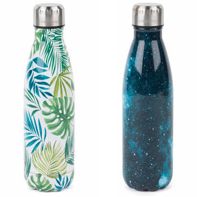 Cambridge COMBO-4167 Cosmos and Polynesia Thermal Insulated Flask Bottle, 500 ml, Stainless Steel, Set of 2 Thumbnail 1