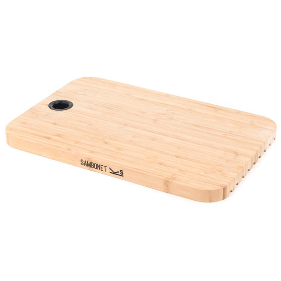 Sambonet 1304716 Bamboo Dual-Use Chopping Board with Hanging Hook, 36 cm x 24 cm