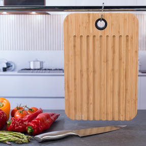 Sambonet 1304716 Bamboo Dual-Use Chopping Board with Hanging Hook, 36 cm x 24 cm Thumbnail 5