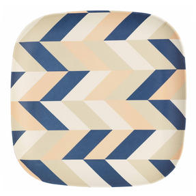 Cambridge CM06555 Reusable Lightweight Dinner Plates, 24 cm, Balance Print, Set of 4 | Dishwasher Safe | BPA Free | Alternative to Single Use Plastics Thumbnail 2