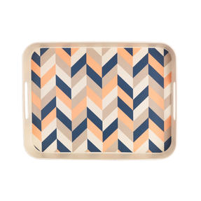 Cambridge CM06557 Balance Large Reusable Rectangular Tray, 32 cm | Perfect for Serving Drinks at Parties Thumbnail 1