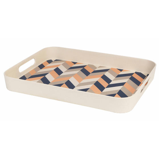 Cambridge CM06558 Balance Large Reusable Rectangular Tray, 41 cm | Perfect for Serving Drinks at Parties