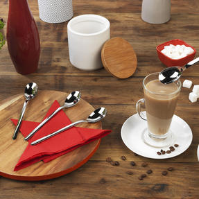 Bellevue VB2002 Four-Piece Latte Spoon Set, Stainless Steel Thumbnail 8