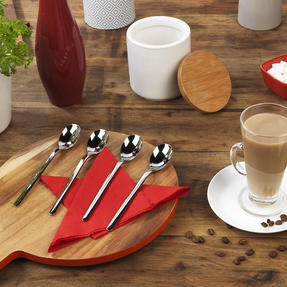 Bellevue VB2002 Four-Piece Latte Spoon Set, Stainless Steel Thumbnail 9