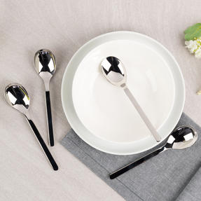 Bellevue VB2007 Four-Piece Cereal Spoon Set, 161 mm, Stainless Steel Thumbnail 4